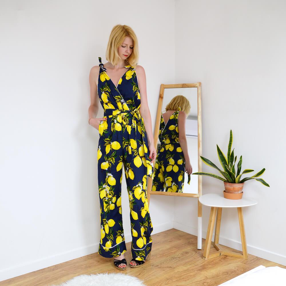 Marlene lemon print jumpsuit