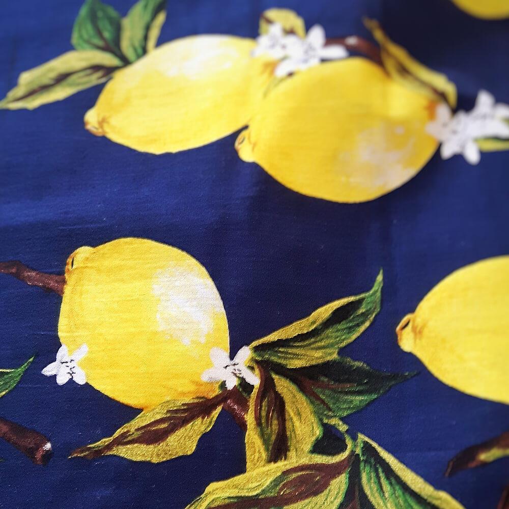 Lemon print fabric
