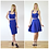 Jersey Sweetheart Crop Top in Royal Blue two piece set options