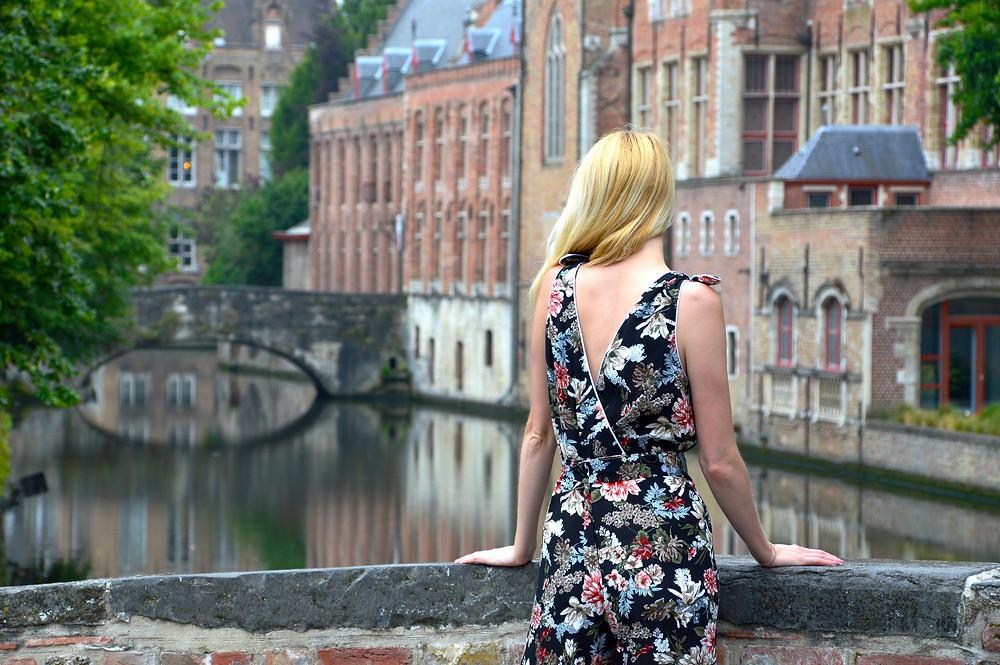 Floral Marlene jumpsuit in Bruges
