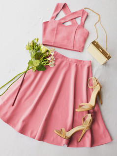 Grace Pastel Pink Sweetheart Outfit