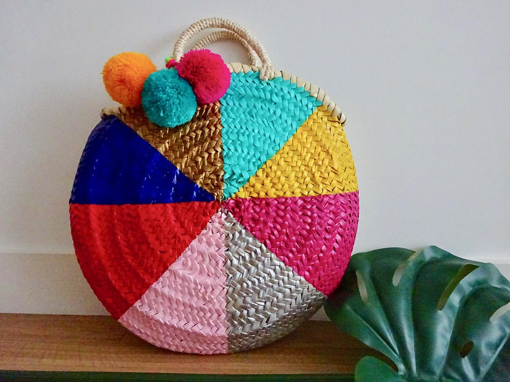 Vanessa woven basket bag