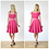 Riviera Style Knee Length Skater Skirt in Hot Pink outfit options