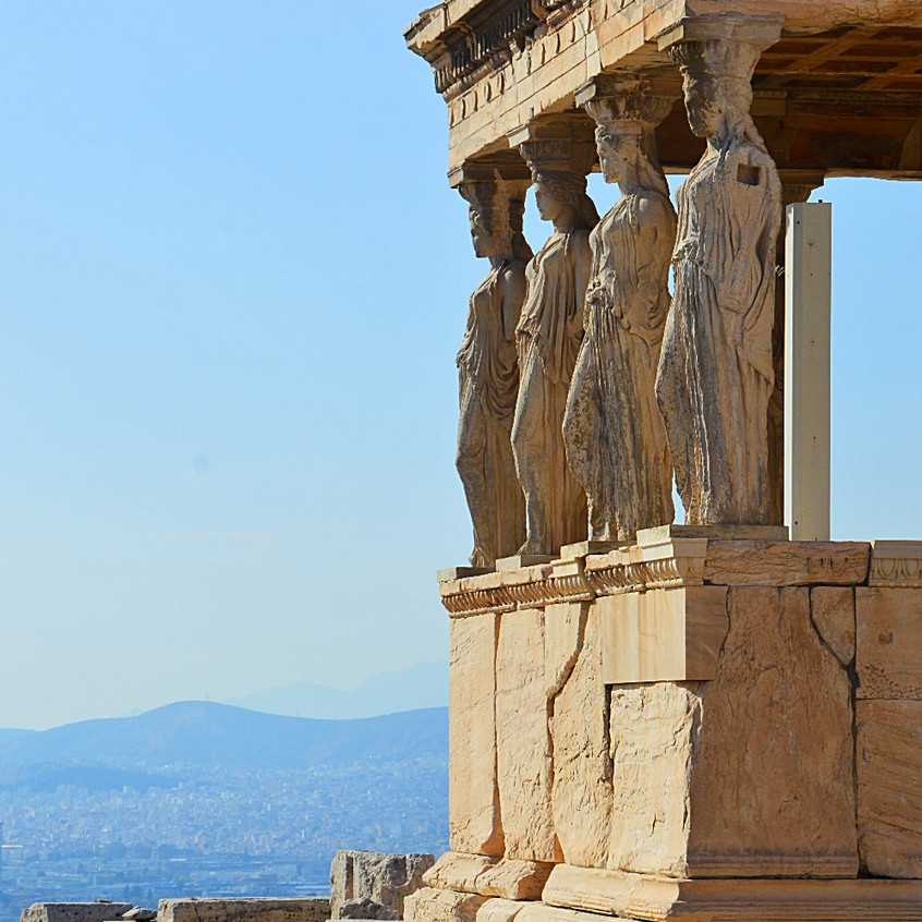 View over Athens by the Erechtheum
