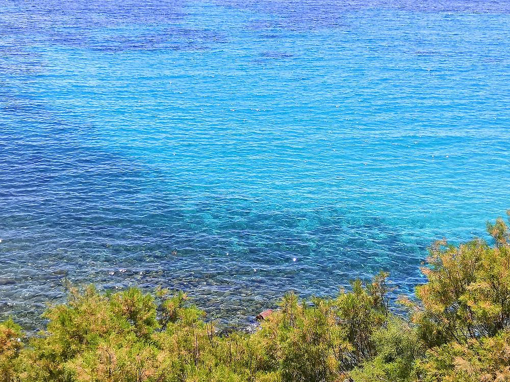 Crystal clear seas of Mykonos