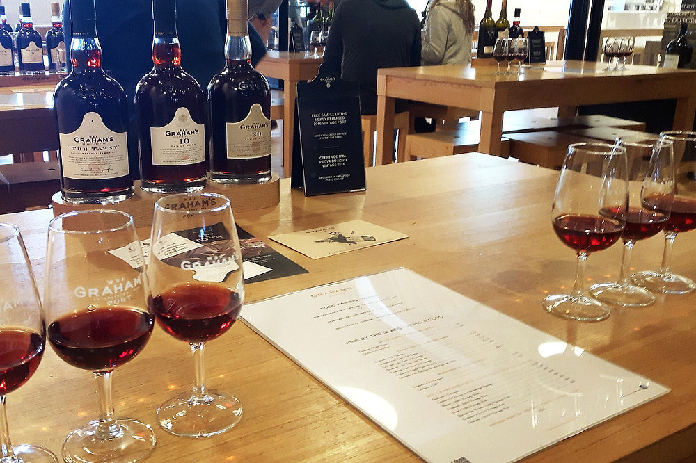 Port tasting at Graham's, Porto