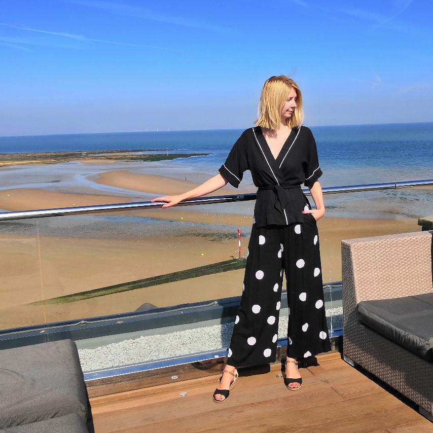 Myrna kimono shirt in black