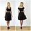 Vintage Style High Waist Flared Skater Skirt in Black outfit options
