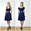 Flared Midi Skater Skirt with High Waist in Navy outfit options