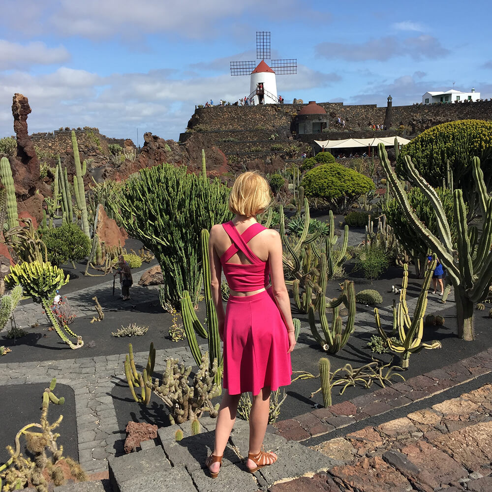 Grace two piece set at the Jardin de Cactus, Lanzarote