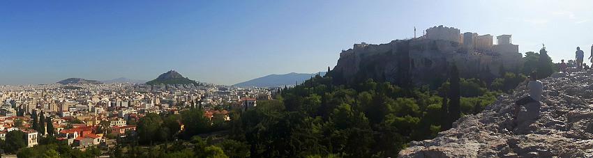 Athens vista with the Acropolis