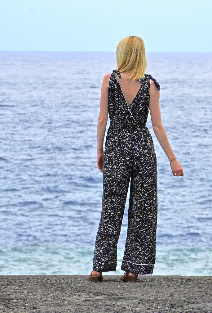 Marlene Jumpsuit with cross body wrap detail