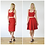 Strappy Sweetheart Bralet in Red as two piece sets
