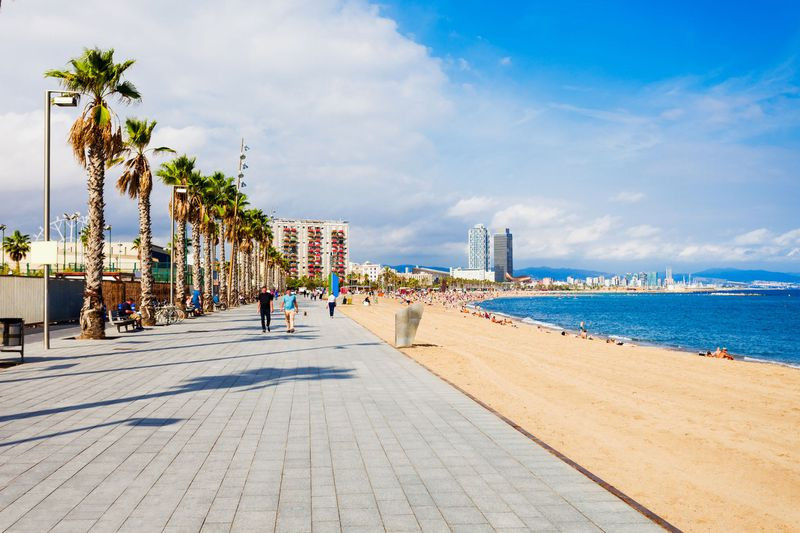 Long stretches of beach in Barcelona - picture c/o Getty Images Saiko3p