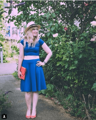 Emilie looks so cute in her Coco two piece set - photo c/o Cookie's Room