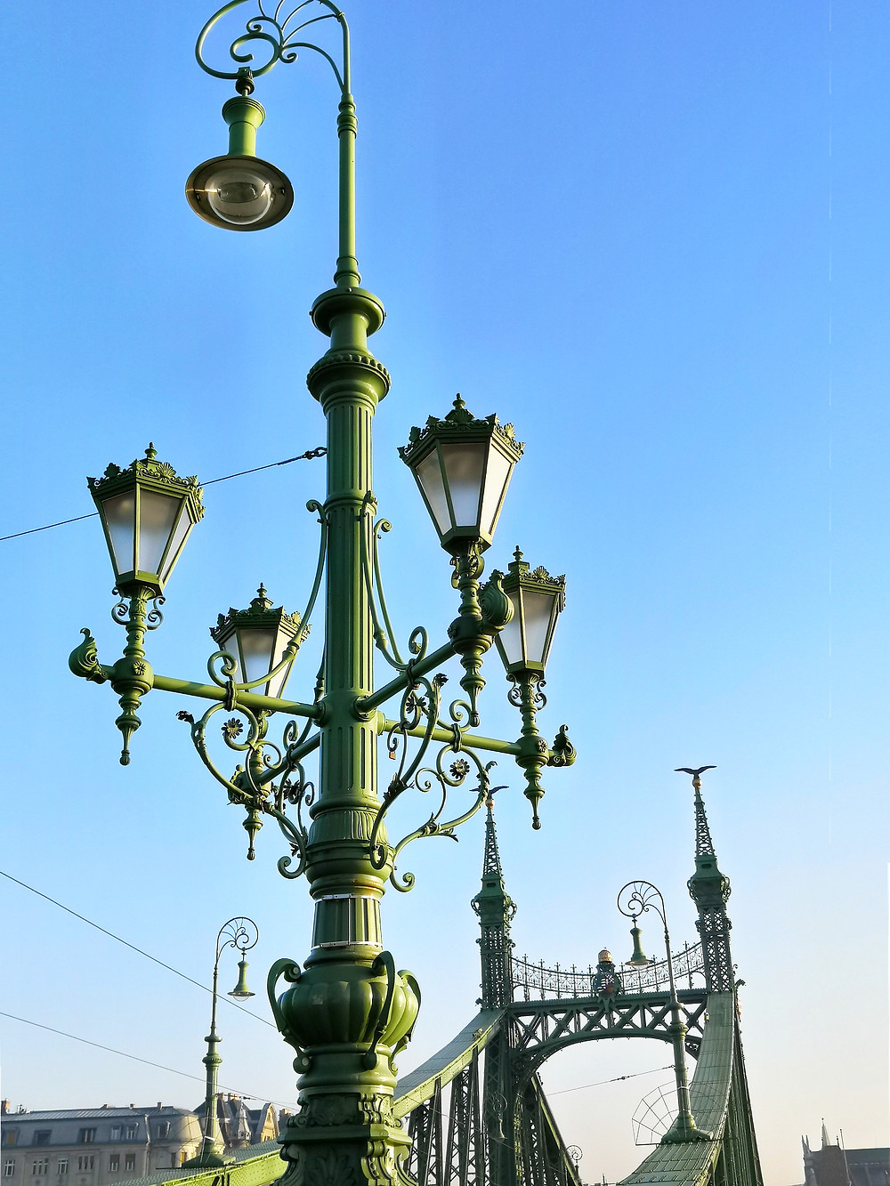 The Art Nouveau Liberty Bridge at sunrise, Budapest