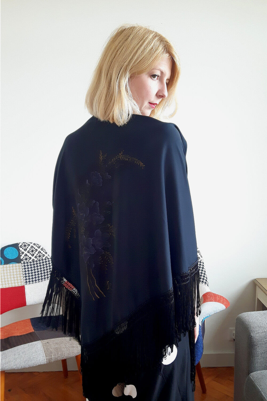 Handpainted shawl