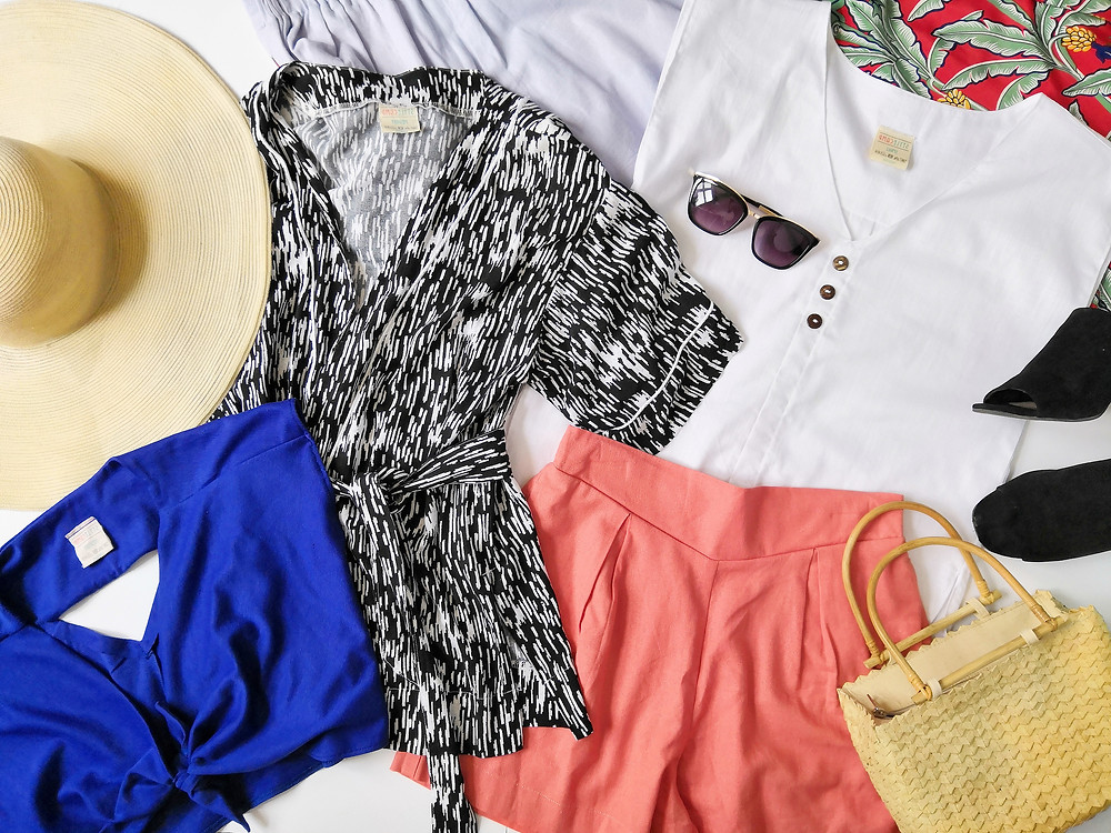 Holiday wardrobe flatlay