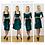Mix n match Green Velvet Bralet & Skater Skirt Co-Ord Set