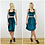 Luxury Fitted Velvet Crop Top in Teal Blue Velvet outfit options