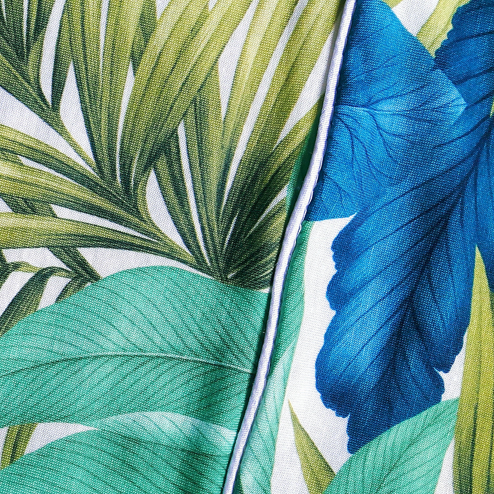 Stylecamp Jumpsuit Tropical print close up
