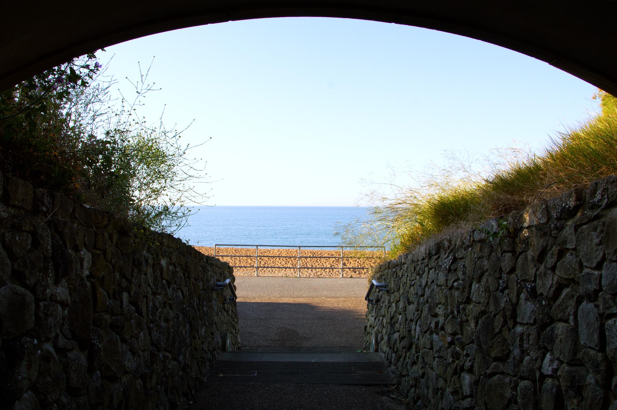 Beach view from the Leas  coastal path