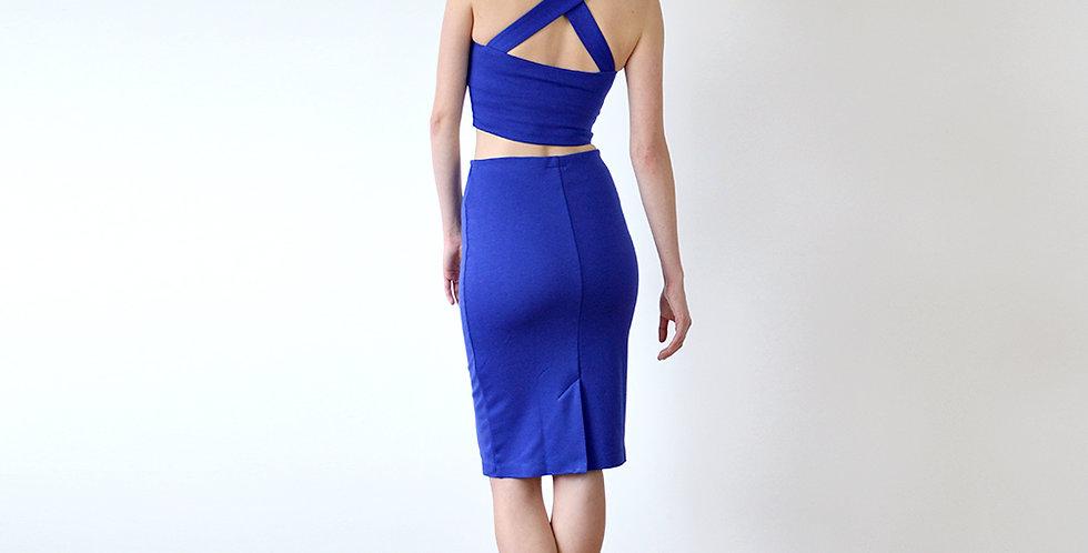 Women's Two Piece Dress Set in Royal Blue