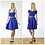 Elegant Knee Length Jersey Skater Skirt in Royal Blue outfit options