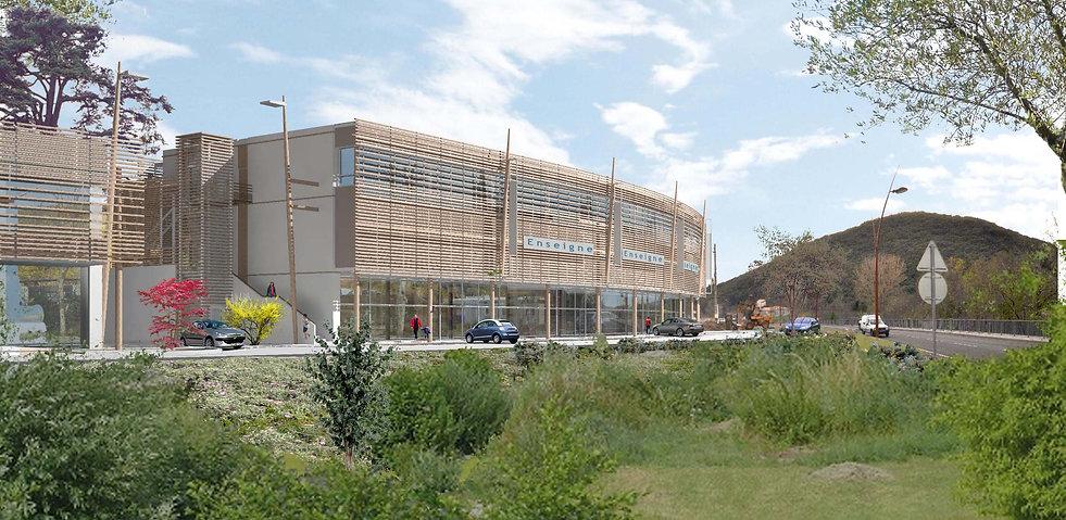 Bâtiment commercial - Lodève - Secyvest - Arnaud Doiteau Architecte