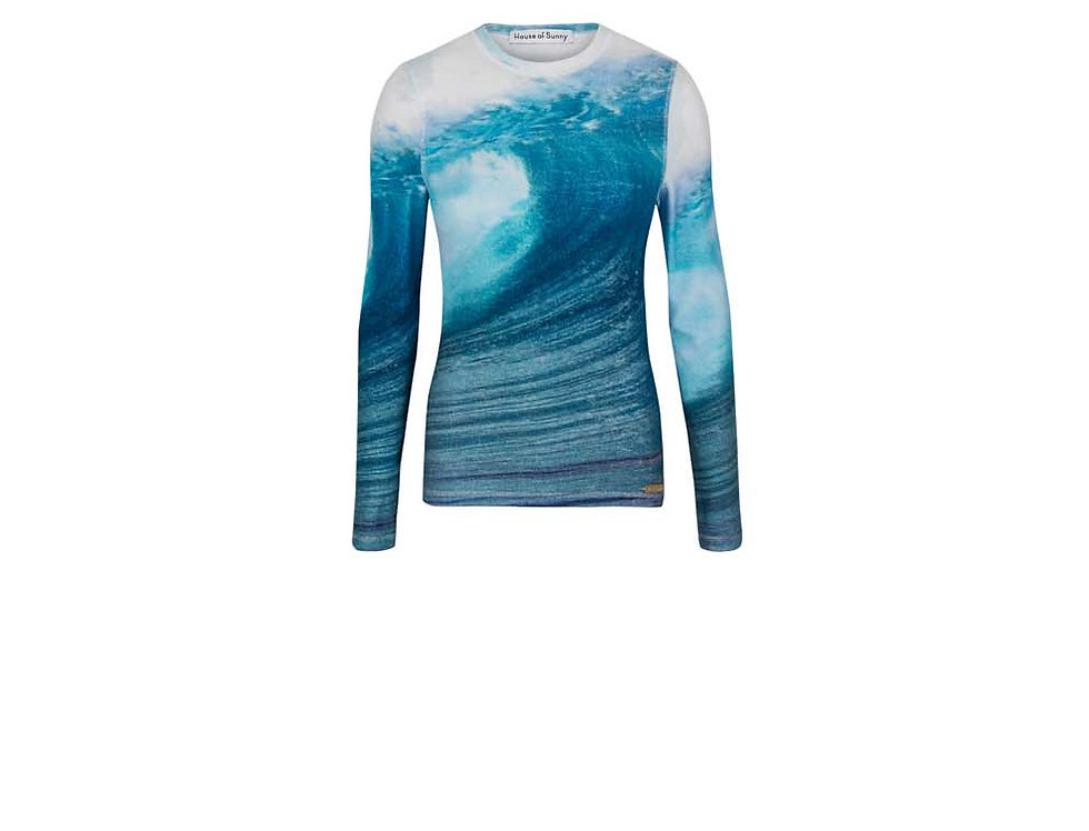 WAVE TOWELLING TOP