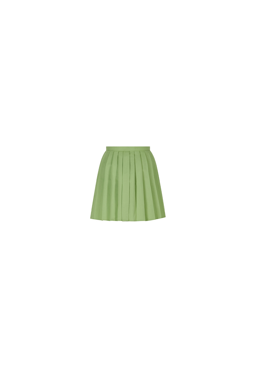 VOL1872 Green Mini Kilt Skirt B.jpg