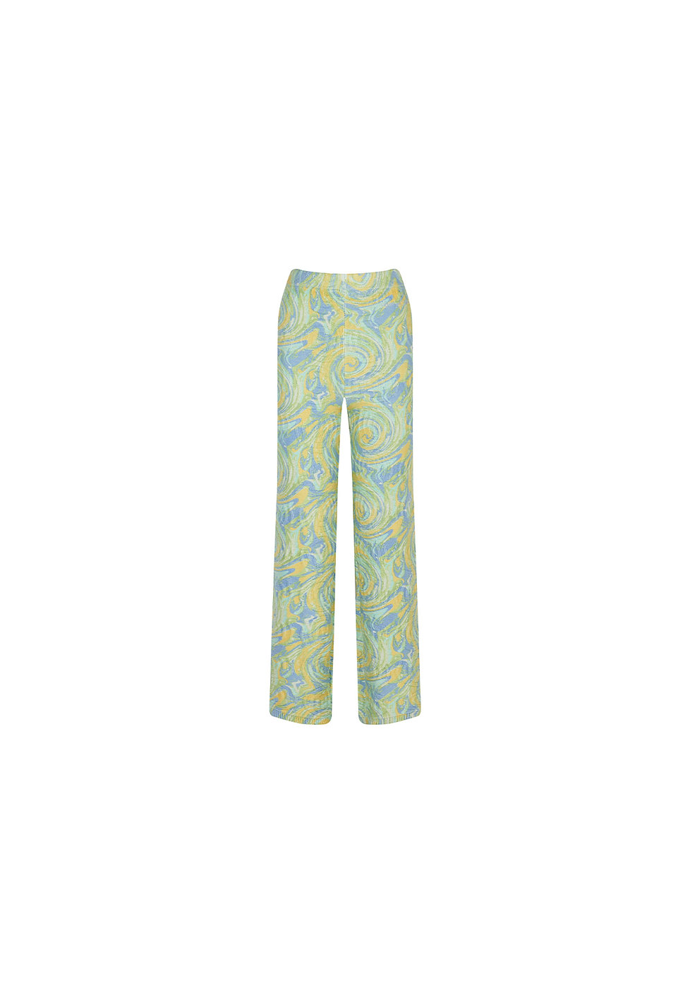 VOL1821 Green Galaxy Print Knit Trousers A.jpg