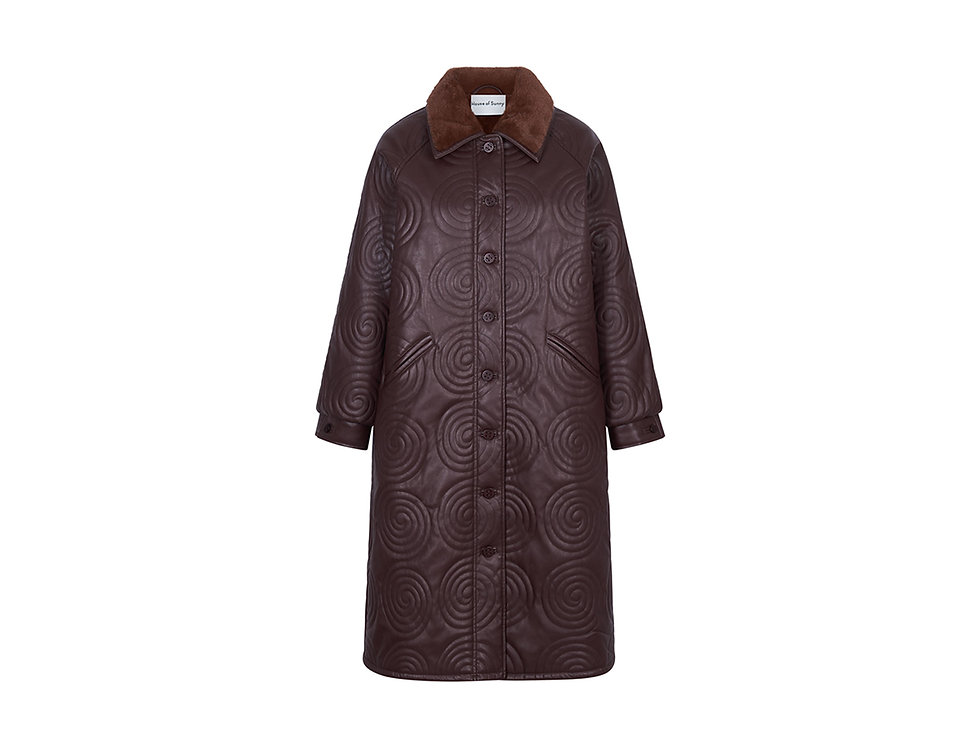 COSMO (FOREVER & EVER) OVERCOAT BROWN