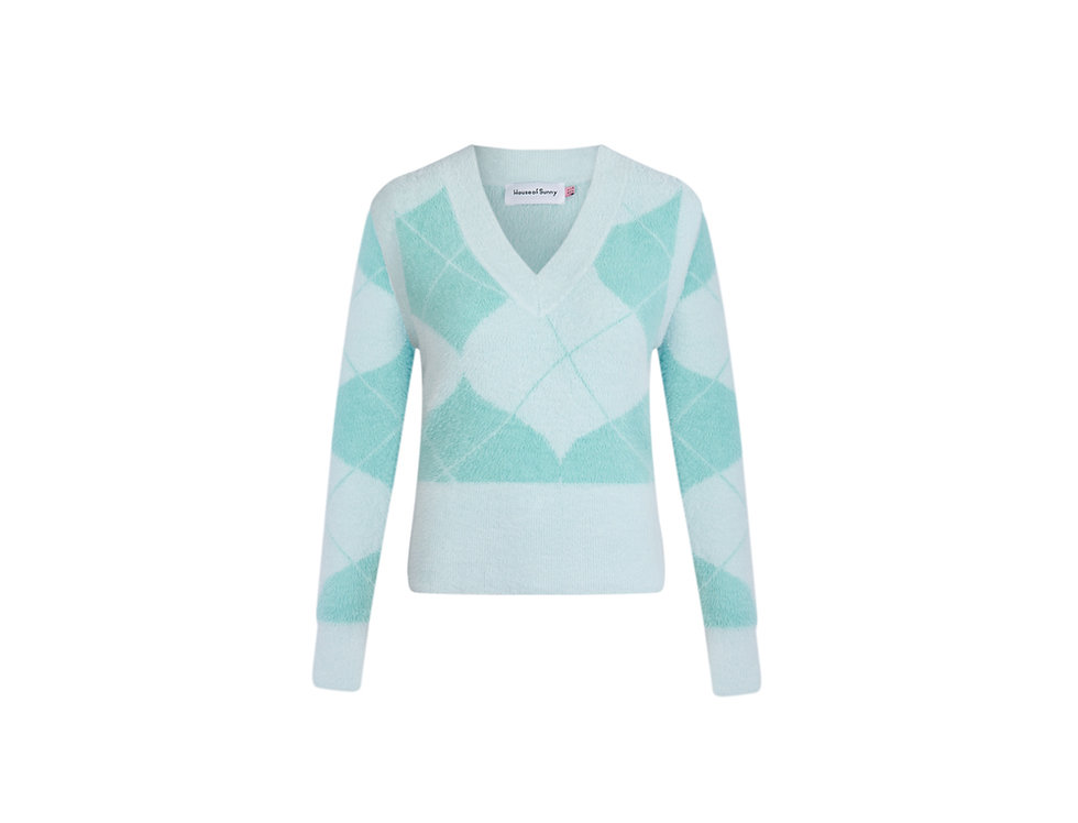 DIAMOND KNIT w/ DETACHABLE SLEEVES