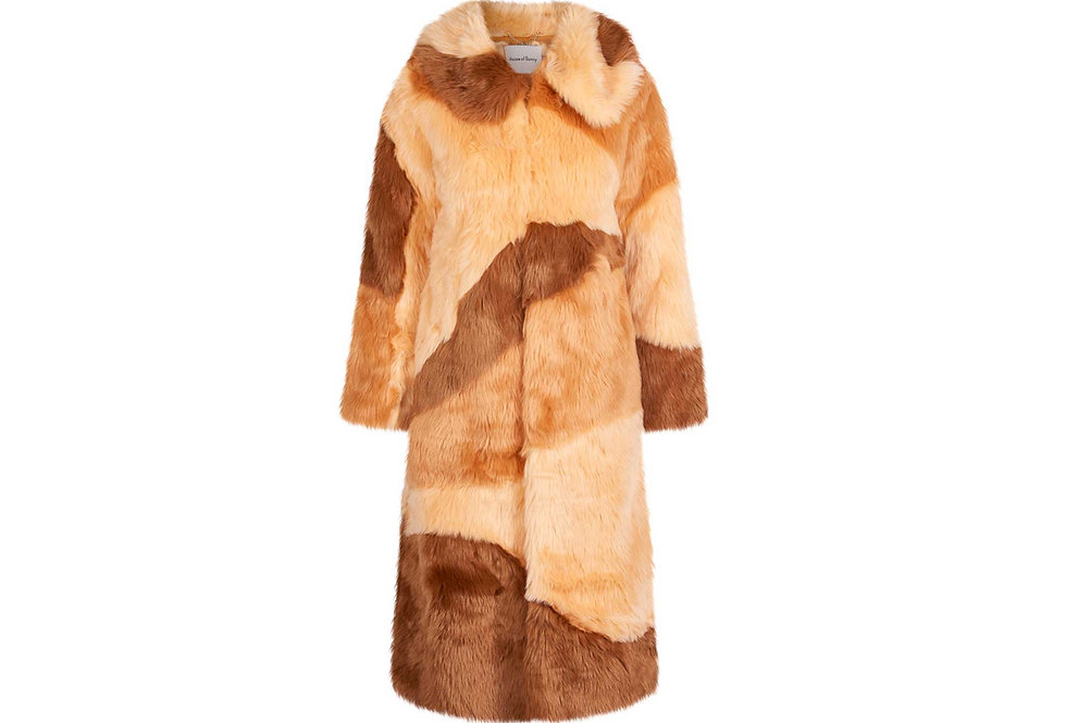DIDDY FAUX FUR AMBER & TEAK