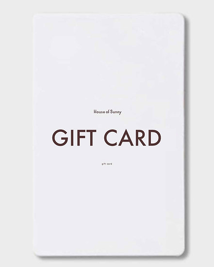 GIFT CARD - choose the amount