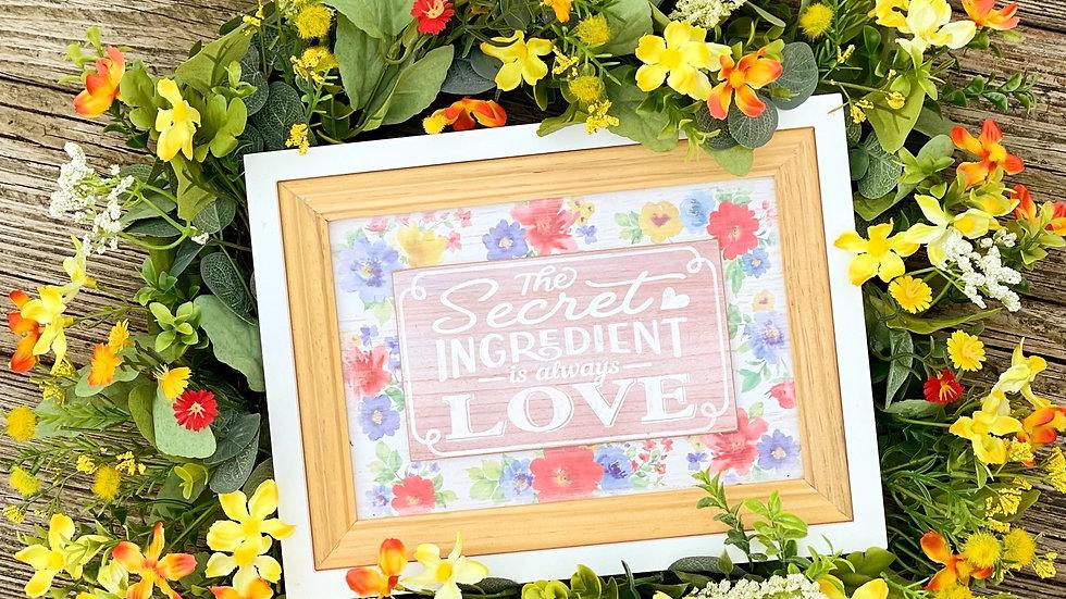 Secret Ingrediant Wreath-18 inch grapevine base