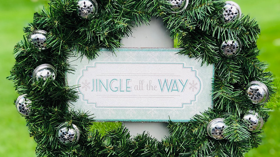Jingle All The Way Bell Wreath-12 inch