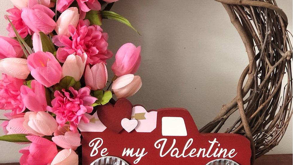 Be My Valentine Wreath-12 inch base
