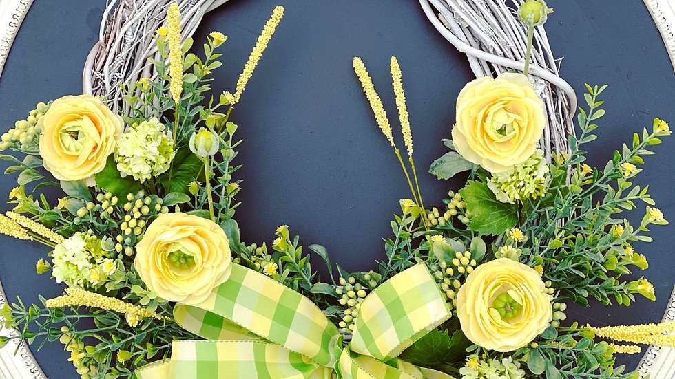 Spring is in the air wreath-14 inch grapevine base