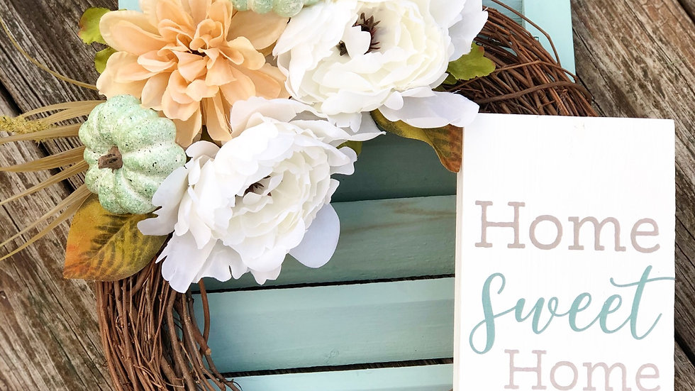 Home Sweet Home Wreath-12 inch base