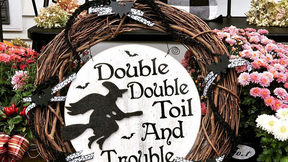 Double Double Toil Wreath-24 inch base