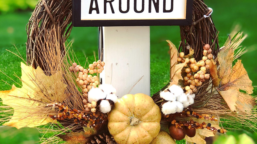 Gather Around Wreath-14 inch base