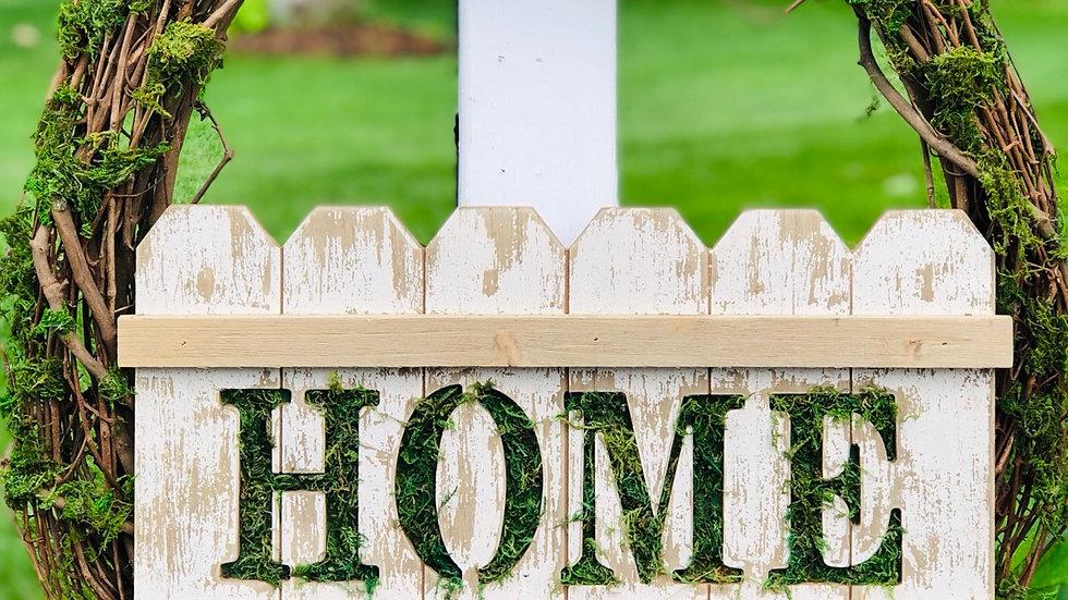Home Moss Wreath-24 inch base