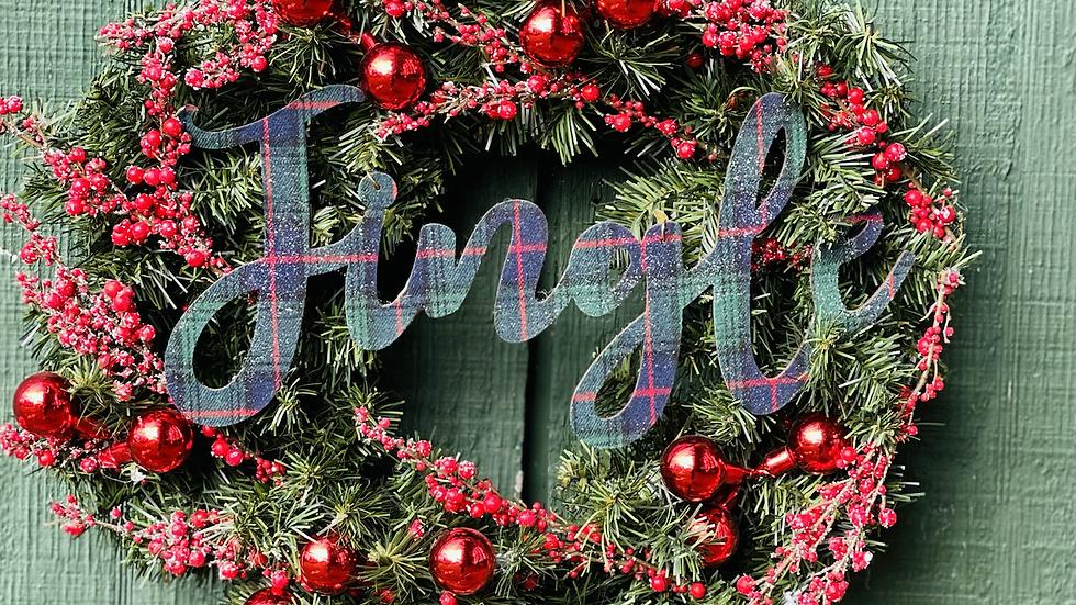 Jingle wreath-Faux pine base-small size wreath