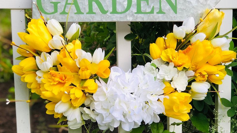 Galvanized Garden Wreath-18 inch base