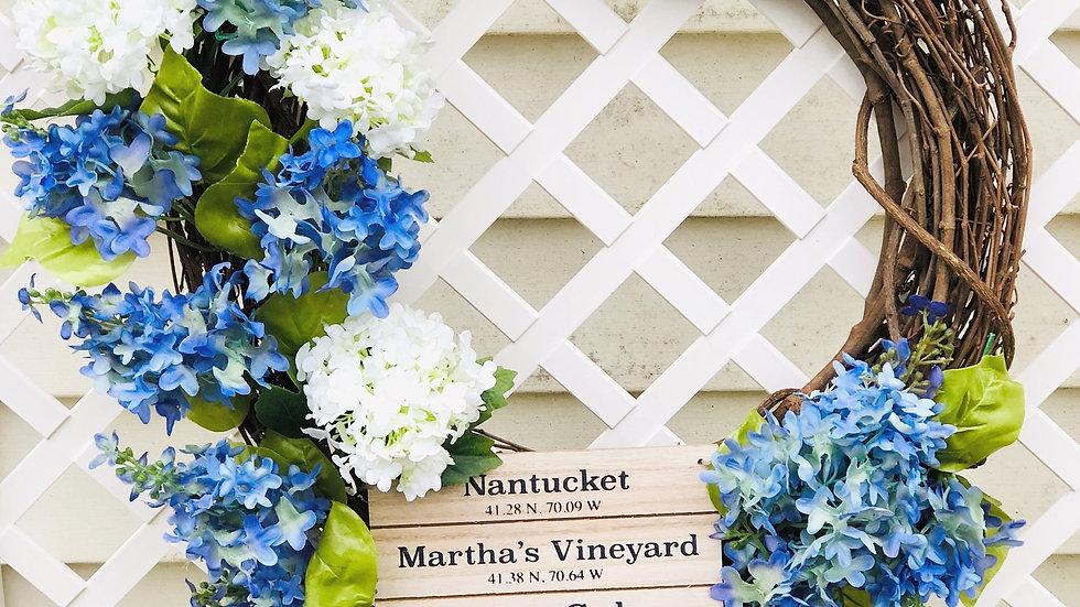 New England Wreath-18 inch base