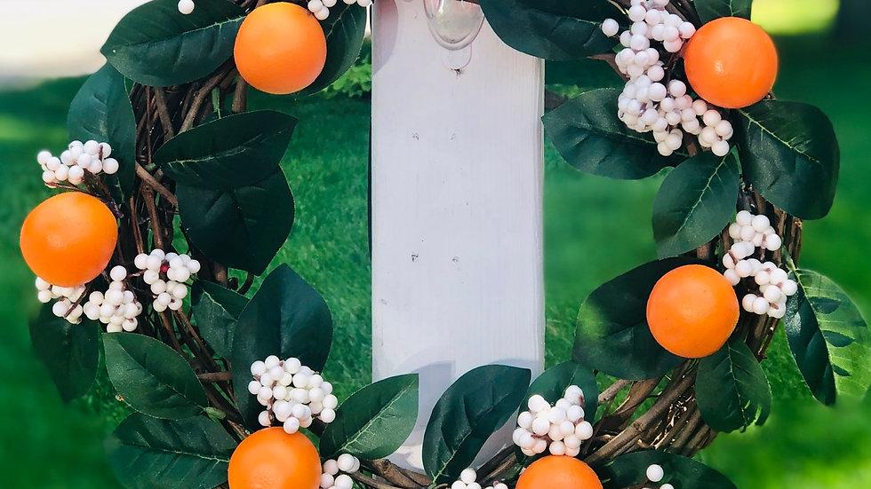 Simply Orange Wreath-12 inch base