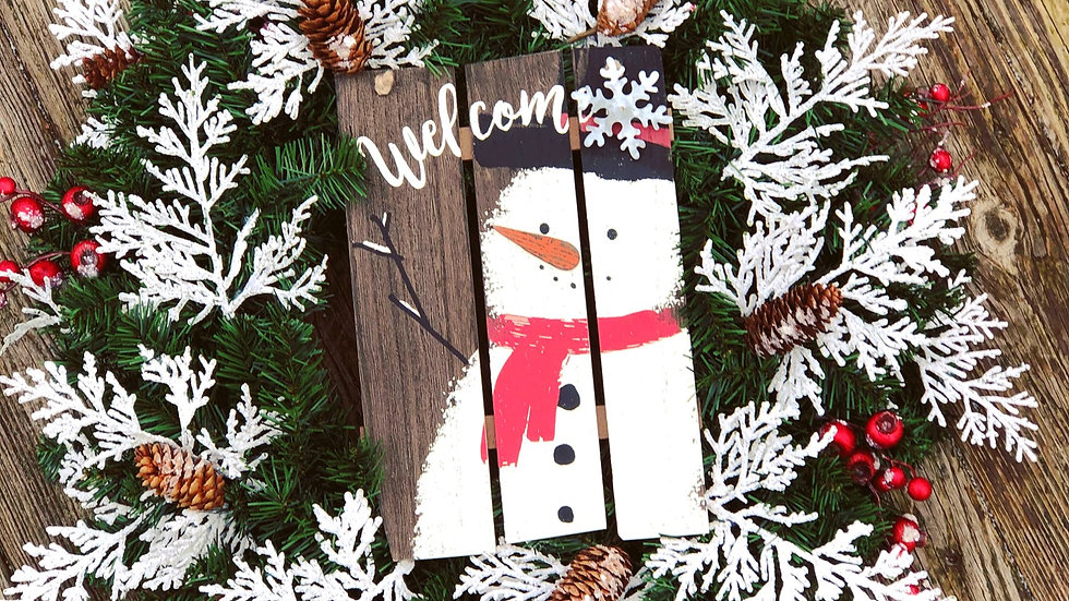 Warm Winter Welcome-faux pine base