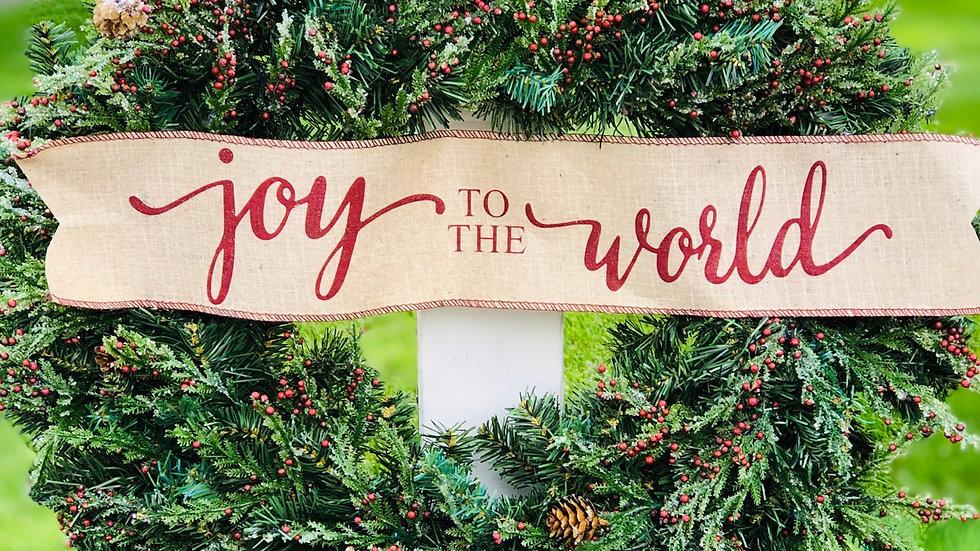 Joy To The World-Large Pine Wreath